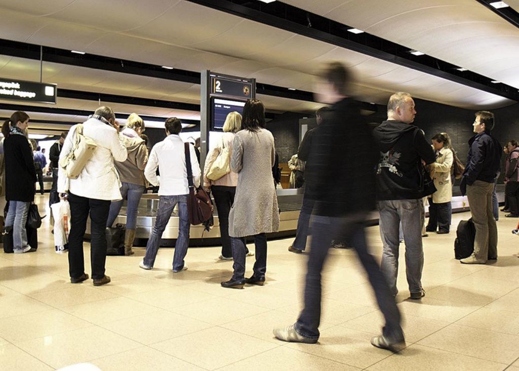 Gepäckausgabe am Flughafen